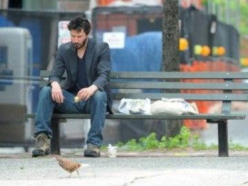 Keanu Reeves triste
