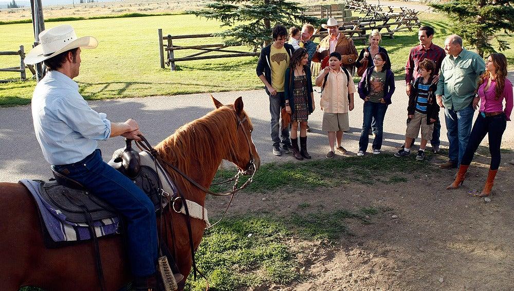 Toda la familia llega al rancho
