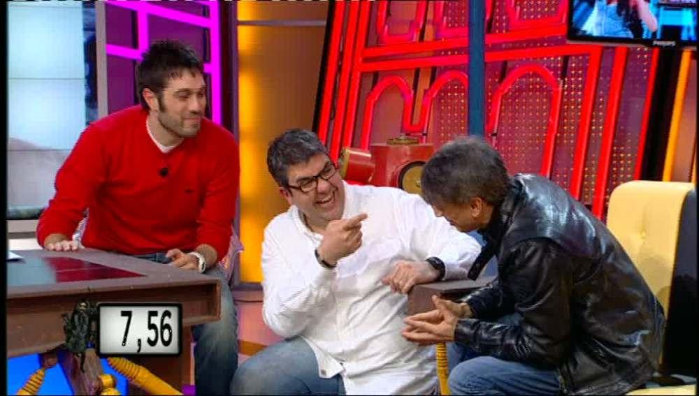 Dani y Flo con José Mota
