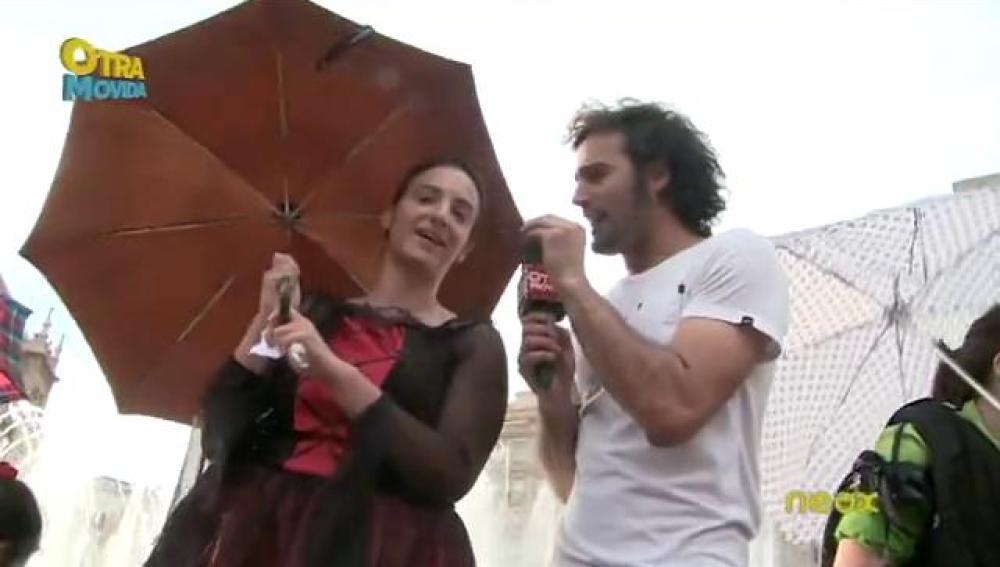 Raul regala 500 euros en Valladolid