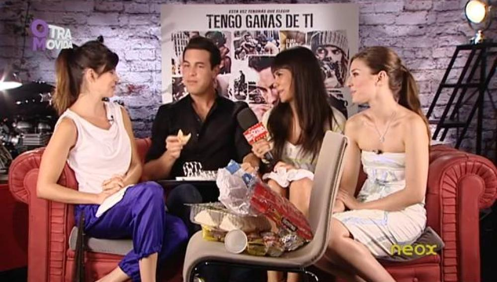 Pedroche con Mario Casas, María Valverde y Clara Lago