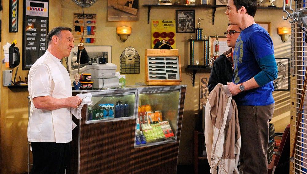 Sheldon en la peluquería
