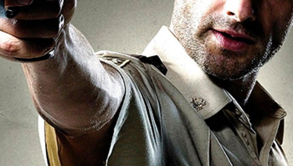 Rick Grimes empuña su arma en The Walking Dead
