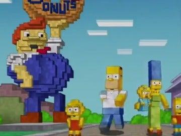 Minecraft en Los Simpsons