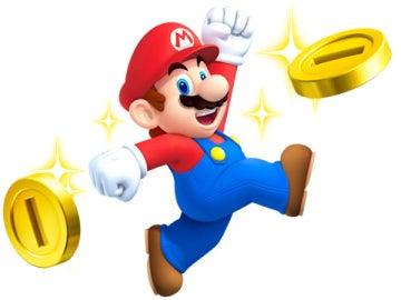 Super Mario y sus monedas de oro
