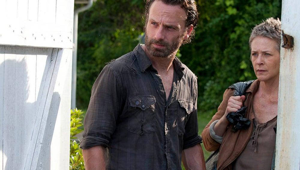 Rick Grimes y Carol Peletier