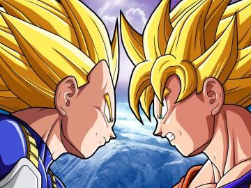 Vegeta y Goku, frente a frente
