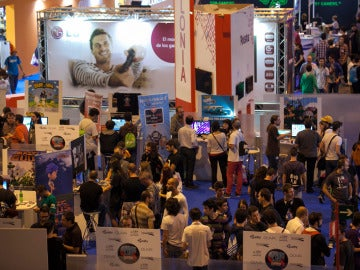 Gamers disfrutando en la Madrid Games Week