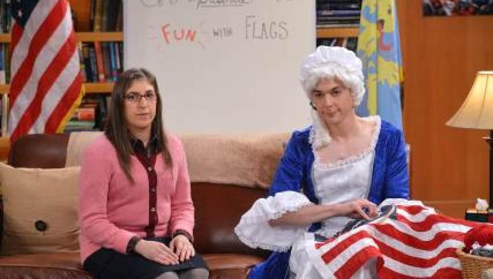 Sheldon se despide muy triste de la  última fiesta de banderas