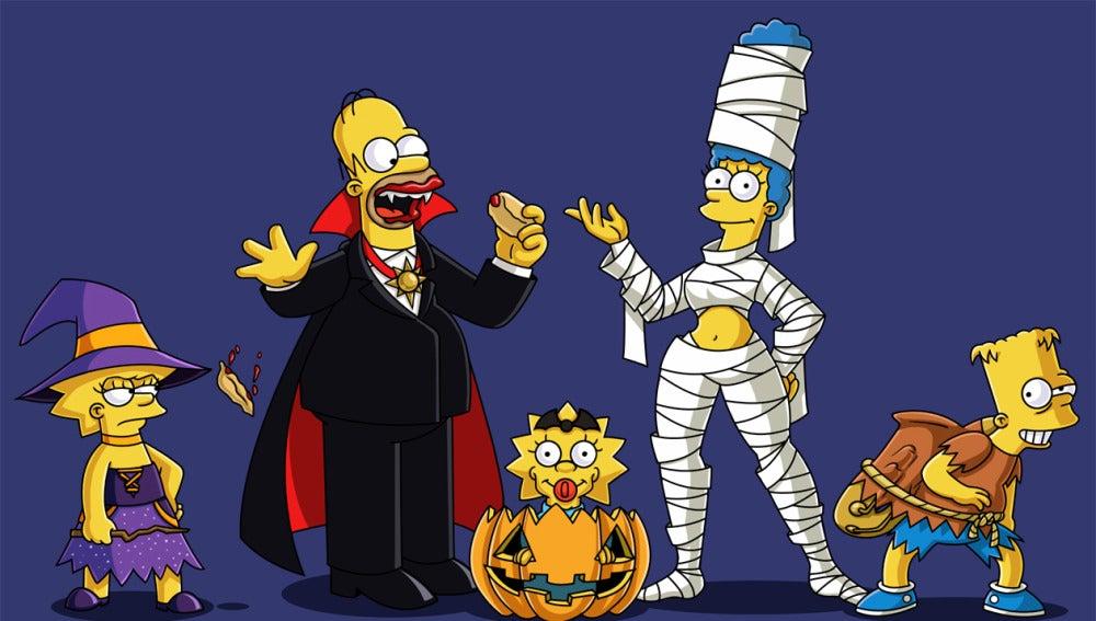 'Los Simpson' se ponen su disfraces más terroríficos para Halloween