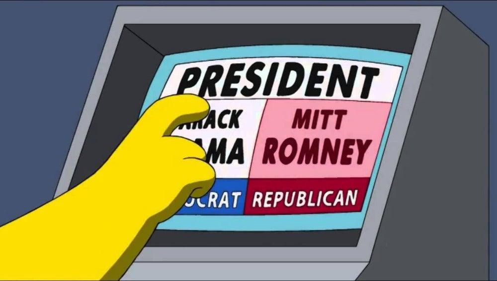 Homer vota por Romney