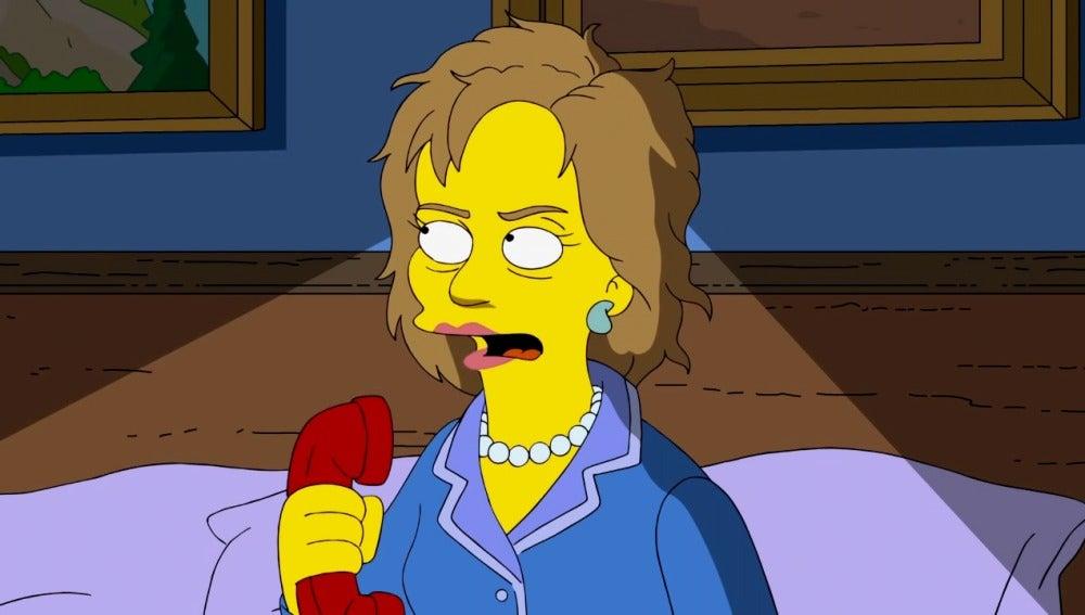 ¿Votará Homer a Hillary Clinton por salvar su matrimonio?
