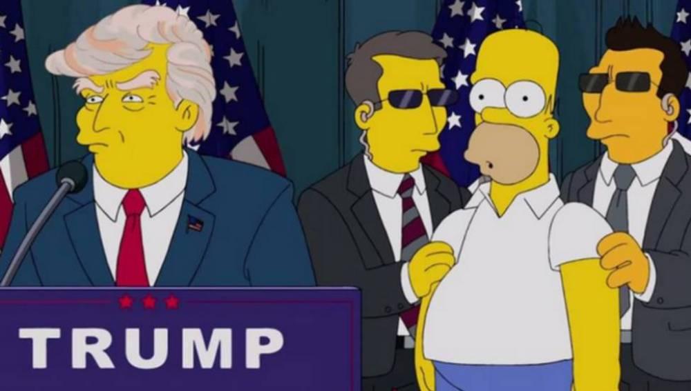 Trump en Los Simpson