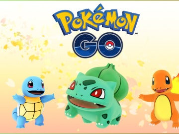 Bulbasaur, Charmander y Squirtle, de Pokémon GO