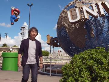 Super Mario y Shigeru Miyamoto en Universal