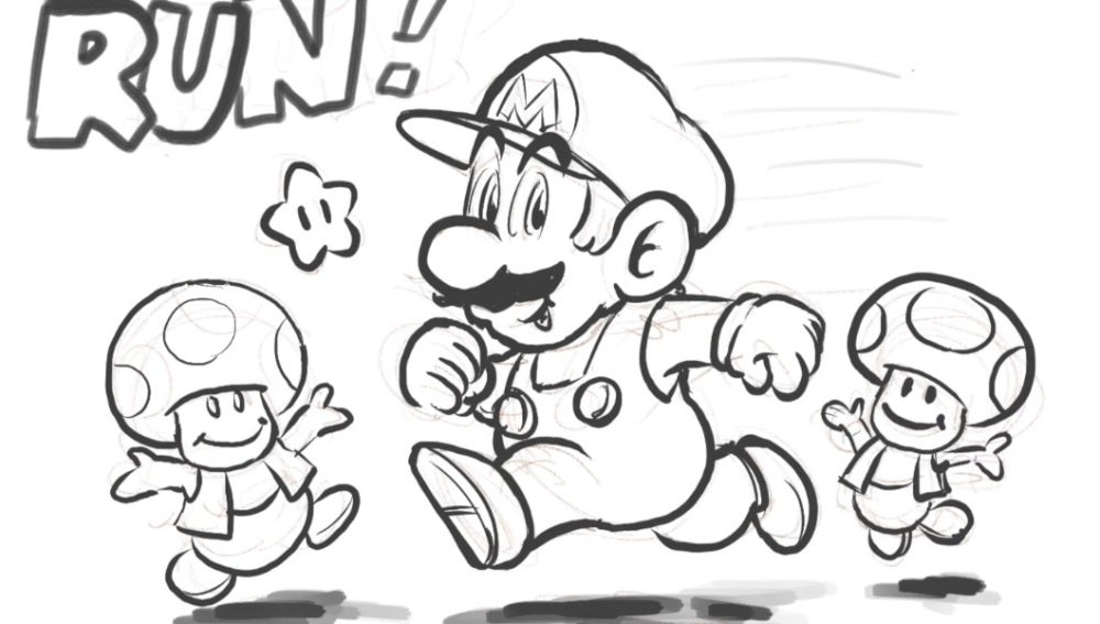 Dibujo de Super Mario