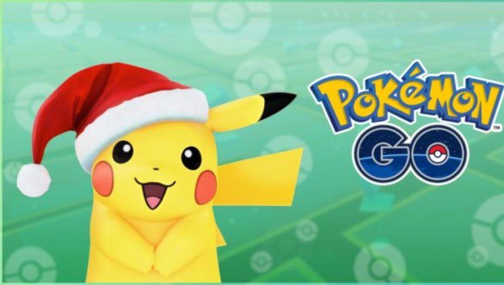 Pikachu especial de Navidad en Pokémon GO