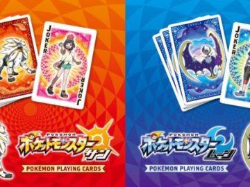 Cartas de póker de Pokémon Sol y Luna