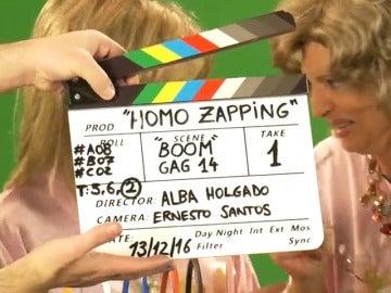 Frame 2.692245 de: Las Campos se lo pasaron bomba en el rodaje de 'Homo Zapping'