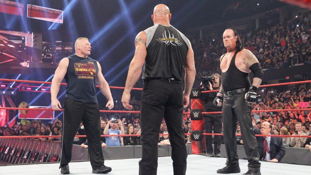 Undertaker, Goldberg y Lesnar se citan para Royal Rumble en 'Raw'