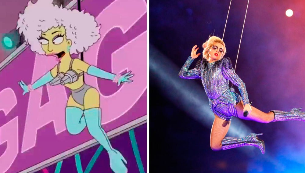 Los Simpson predicen la actuación de Lady Gaga en la Super Bowl