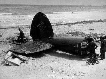 Restos de un avión alemán de la II Guerra Mundial