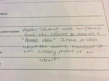 Carta de la profesora