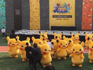 Pikachu sacado a rastras