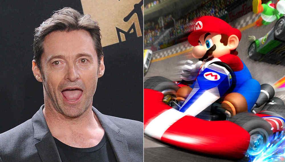 Hugh Jackman y Mario Kart