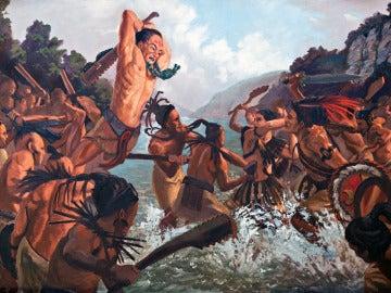 Combate entre aztecas