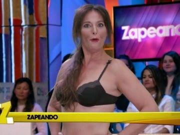Frame 87.283118 de: A Cristina Pedroche se le rompe el vestido en 'Zapeando'