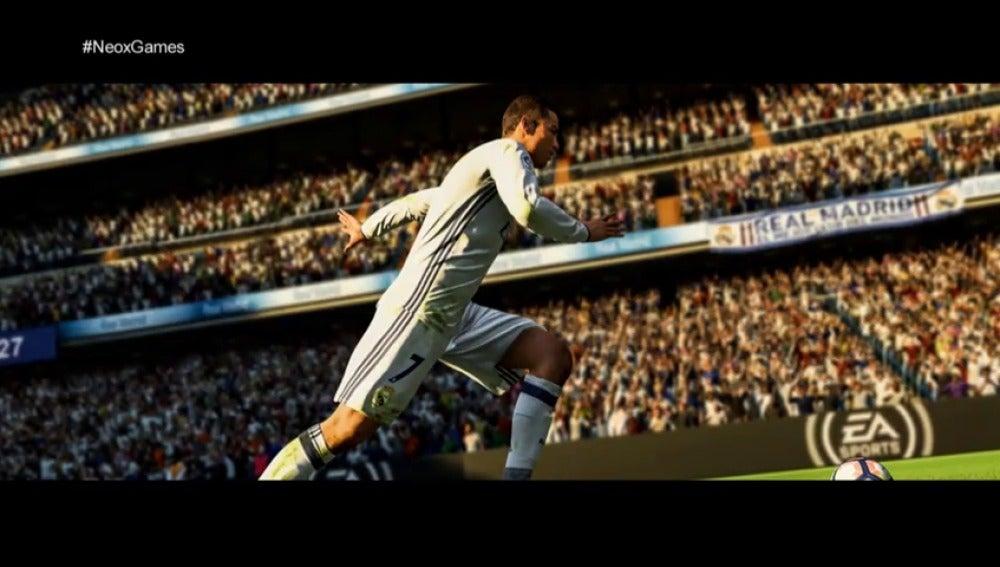 Frame 71.04875 de: 'Neox Games' te muestra las novedades del Fifa 18, el juego más realista con Cristiano Ronaldo como imagen