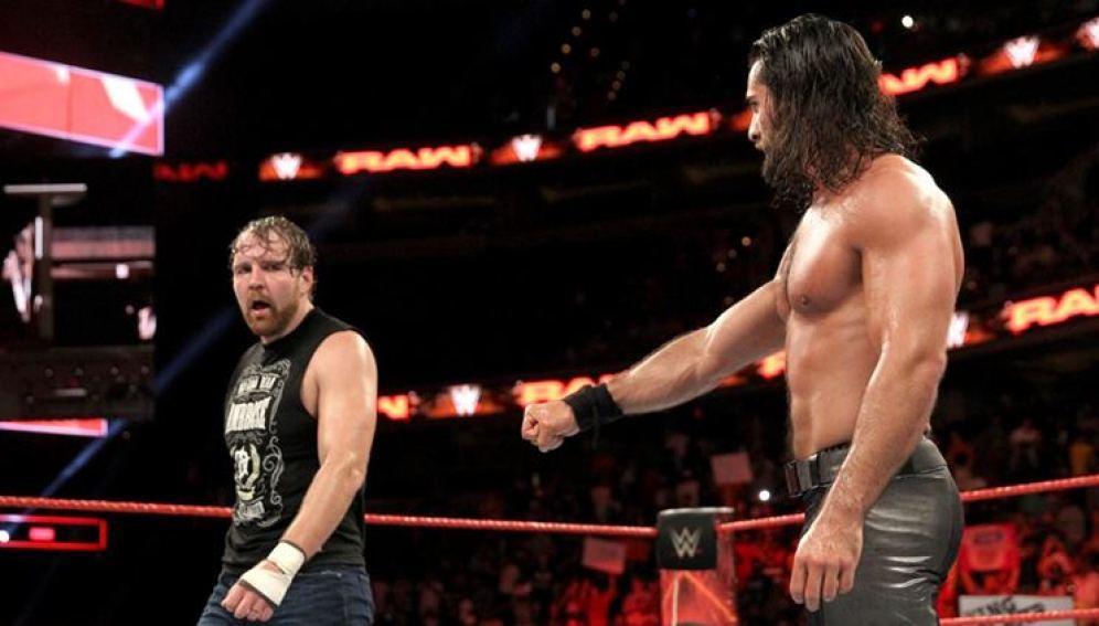 Seth Rollins y Dean Ambrose se imponen a The Miz