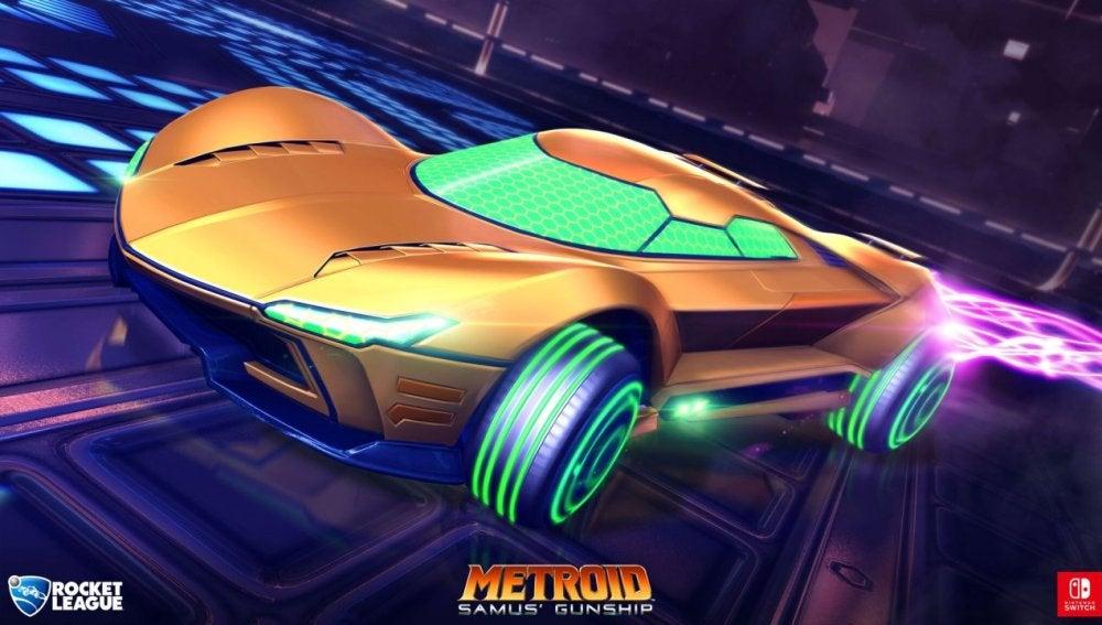 Vehículo de Metroid en Rocket League