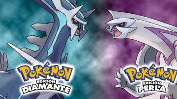 Dialga y Palkia, Pokémon Diamante y Perla
