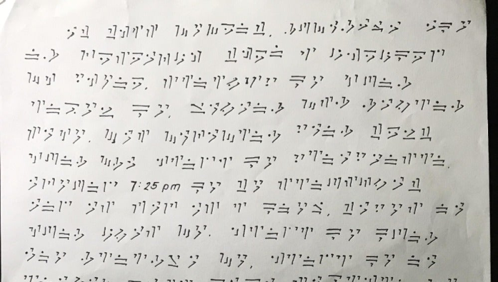Carta de su novia escrita en el lenguaje de dragón