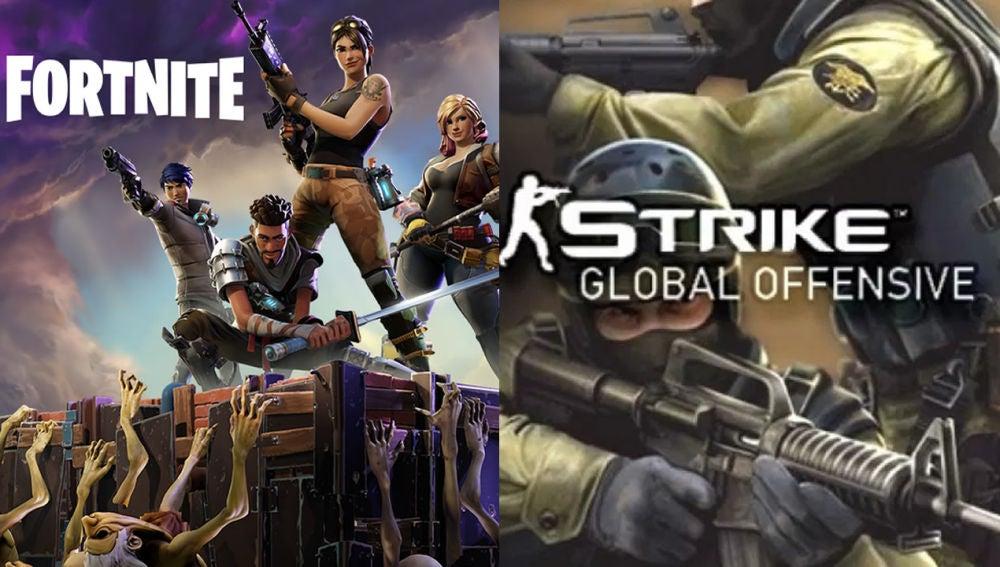 Fortnite y Counter-Strike: Global Offensive