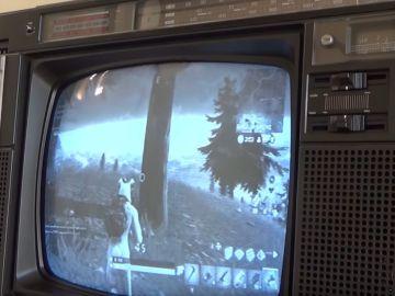 Fortnite en una pantalla de 1984
