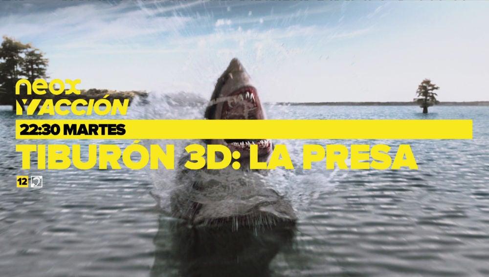 Neox y Acción ofrece una noche de cine impactante con la emisión de 'Tiburón 3D: La presa' y 'El ataque de los tiburones'