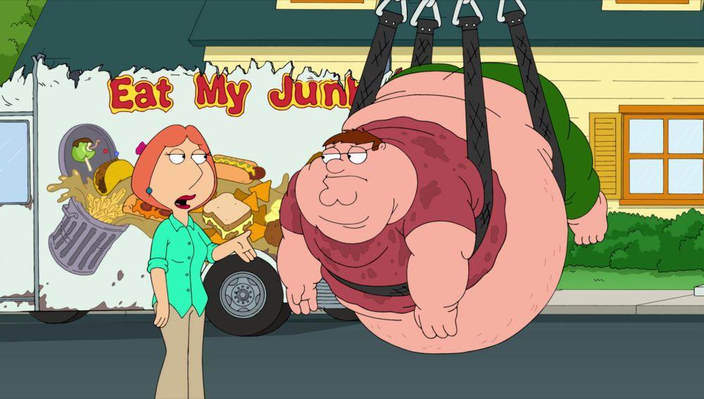 Peter tiene sobrepeso por culpa de la comida sana