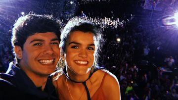 Alfred y Amaia durante su concierto en El Prat de Llobregat