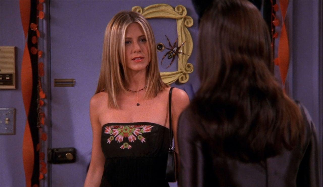 Rachel y su vestido ajustado