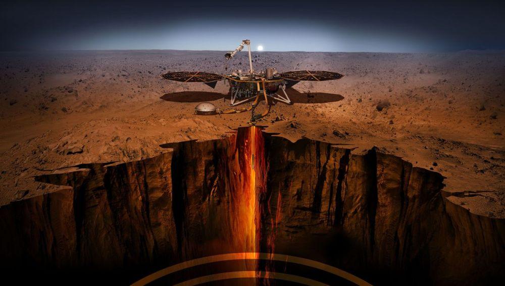 Siete minutos de terror para explorar las profundidades de Marte