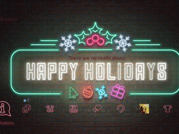 Tema navideño de PS4