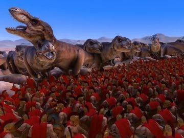 1.000 Tyrannosaurus rex vs 30.000 espartanos