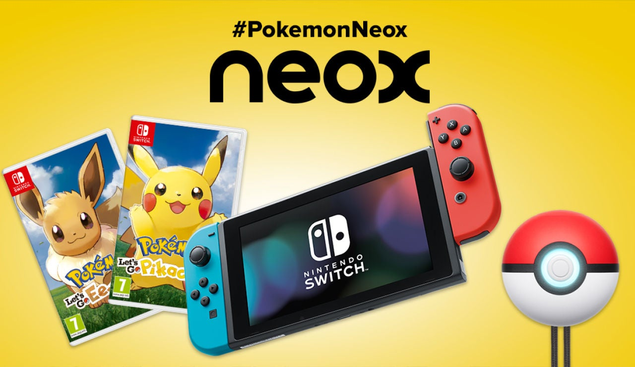 Consigue este pack Pokémon con una Nintendo Switch Neón, dos juegos y una Pokéball Plus