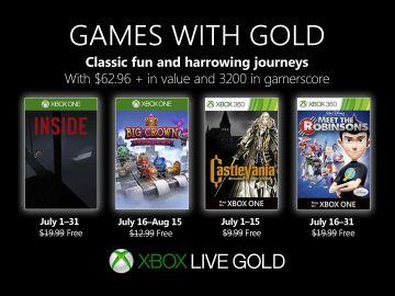 Xbox Gold para julio de 2019