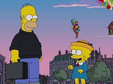 La casa de la película 'Up' se cuela en 'Los Simpsons'