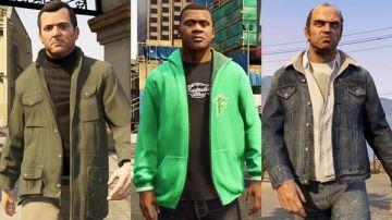 Franklin, Trevor y Michael de GTA V