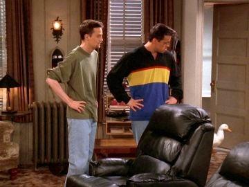Joey y Chandler adoptan un pato y una pollita